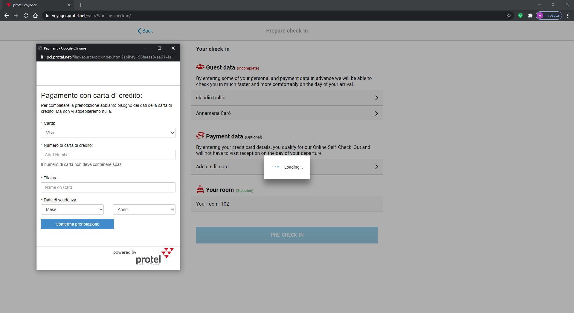 Per garantire la sicurezza dei tuoi dati e quelli dei tuoi ospiti, protel Air usa la tokenizzazione delle carte di credito.