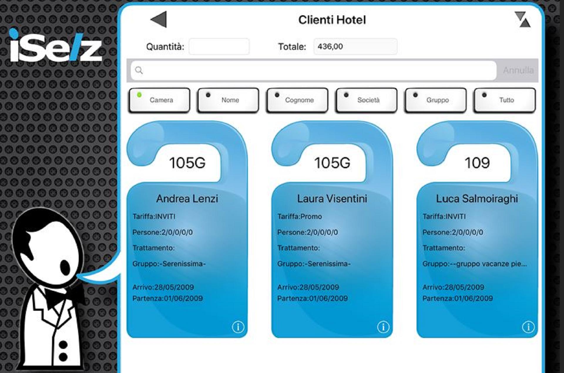 Il personale può addebitare le consumazioni dell'ospite direttamente nel conto della camera.